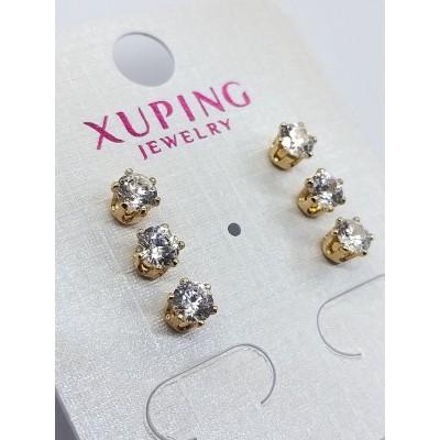 Серьги-гвоздики Xuping покрытые 18К золотом