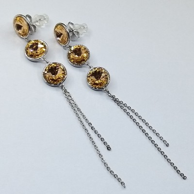Серьги Xuping с кристаллами Swarovski покрытые родием