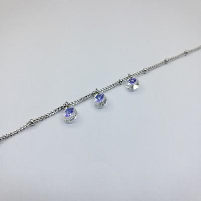 Браслет Xuping с кристаллами Swarovski покрытый родием