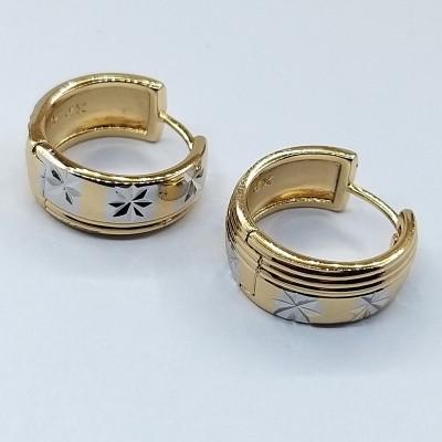 Серьги Xuping покрытые 18К золотом и родием