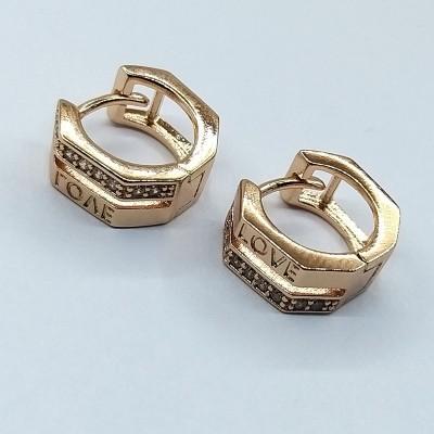 Серьги Xuping покрытые 18К золотом