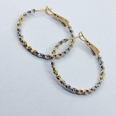 Серьги-кольца Xuping покрытые 18К золотом и родием