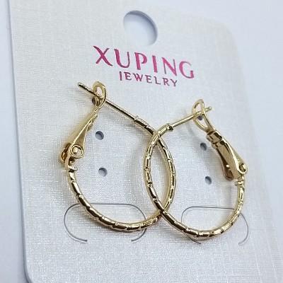 Серьги-кольца Xuping покрытые 18К золотом